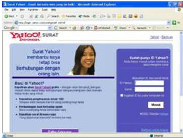 web based email (Yhaoo, GMail)